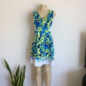 New York Company v neck floral multicolor Dress S